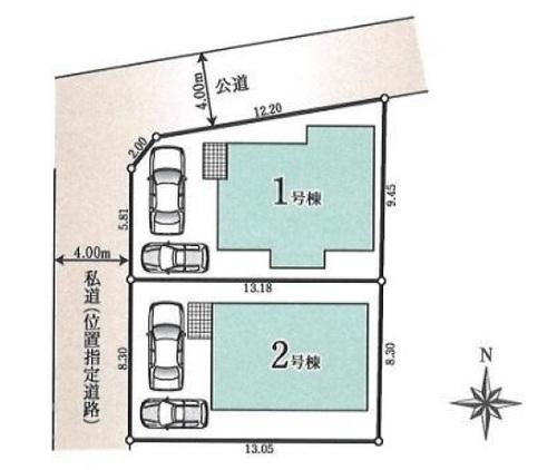 【VR施工例対応物件】昭島市美堀町1丁目 新築分譲住宅 全2棟